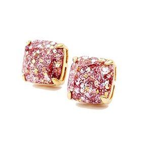 Kate Spade Glitter Pink Square Stud Earring